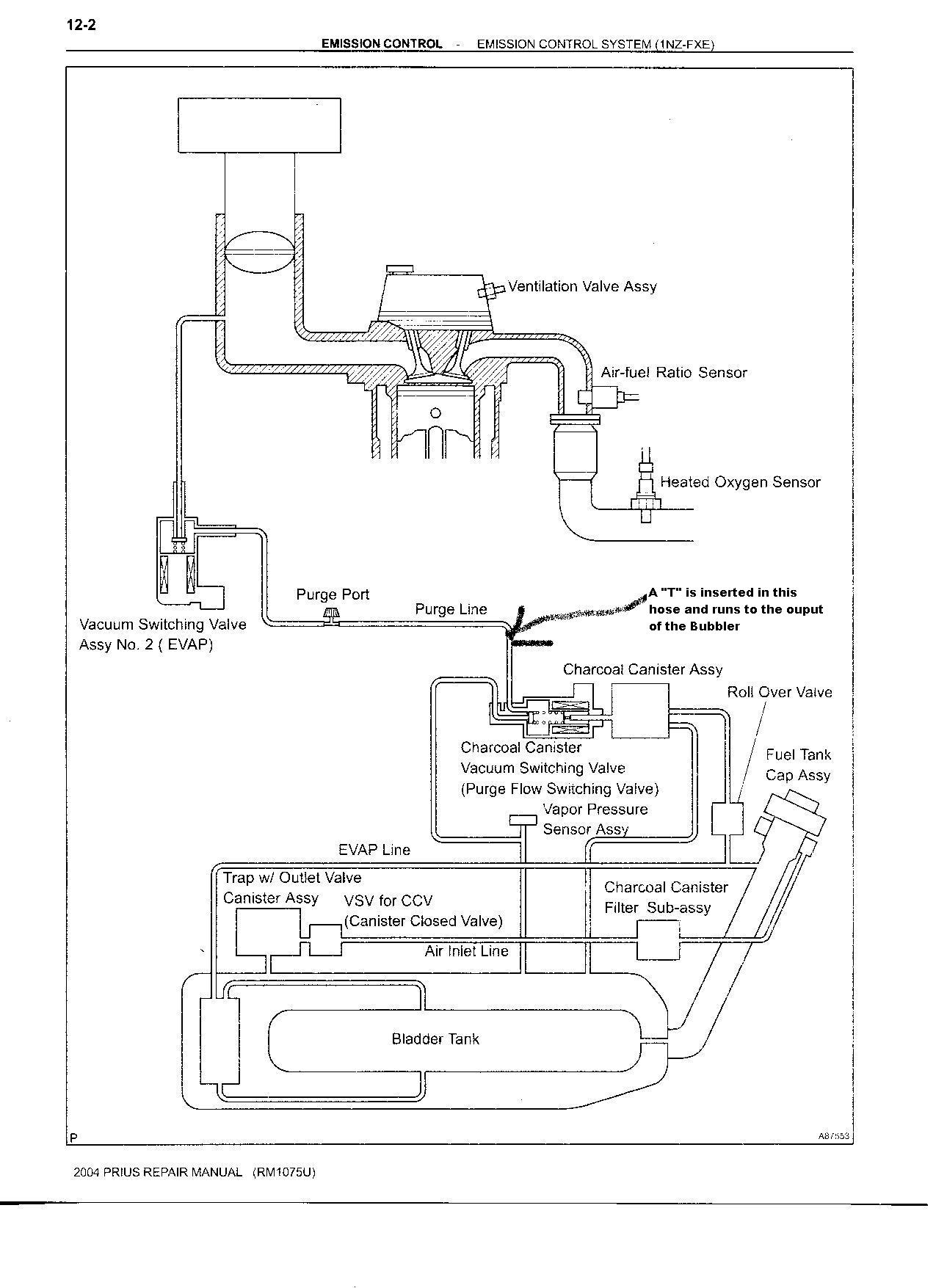 Prius Hydrogen Generator Installation Pressure Tank Schematic Click Here For Construction Details